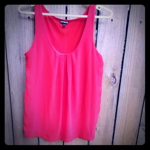 Express size L red top